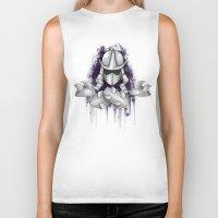 ninja turtle Biker Tanks featuring Shredder -Teenage Mutant Ninja Turtle by Roe Mesquita