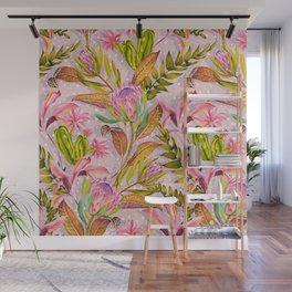 Botanical love pattern Wall Mural