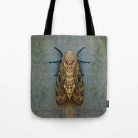 moth Tote Bags featuring Moth by Zandonai