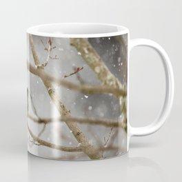 Robin Braving the Falling Snow Coffee Mug