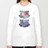 raccoon Long Sleeve T-shirts featuring raccoon by Manoou
