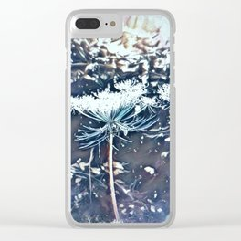 Queen Anne's Lace Flower with Sunbeams Clear iPhone Case