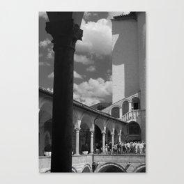 assisi b&w Canvas Print
