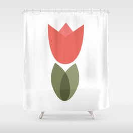 Spring summer tulip flower design Shower Curtain
