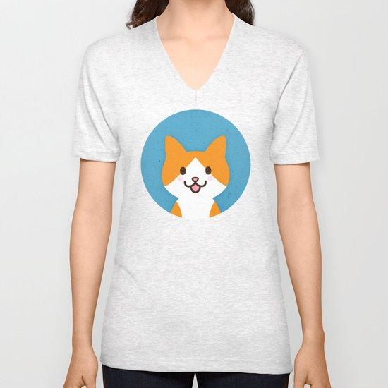Happy Cat Unisex V-Neck