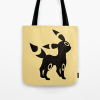 umbreon Tote Bags featuring Umbreon by Polvo