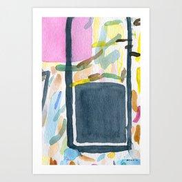 Abstract watercolor still life #2 Art Print