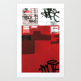red series 1 Art Print