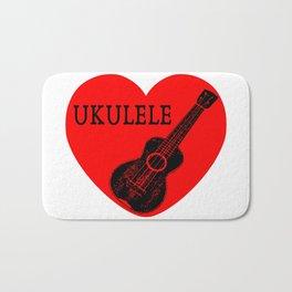 Ukulele Love Bath Mat