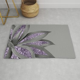 Agave Finesse Glitter Glam #4 #tropical #decor #art #society6 Rug