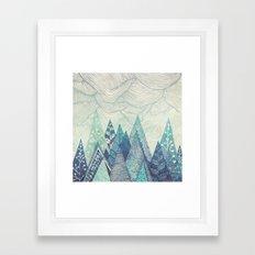 Mountain Crash Framed Art Print