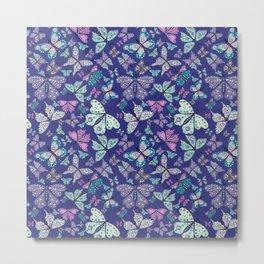 Butterfly Fantasy in Purple Metal Print
