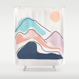Minimalistic Landscape III Shower Curtain