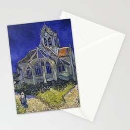 The Church in Auvers-sur-Oise by Vincent Van Gogh Stationery Cards