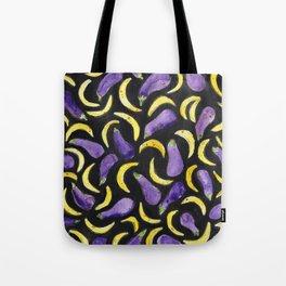 Eggplant & Bananas Tote Bag