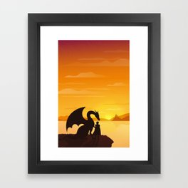 Dragon King Bakugo Landscape Framed Art Print