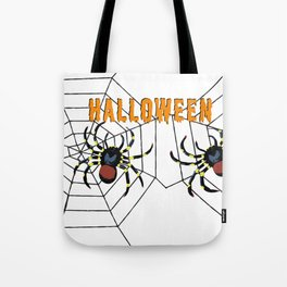 Halloween two big Spider Tote Bag