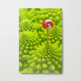 Romanesco Lollipop Metal Print