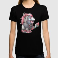 WAZZZAP! Womens Fitted Tee Black MEDIUM