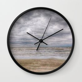 Sand Waves Clouds Wall Clock