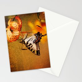 Swallowtail Butterfly and Tiger Lily Stationery Cards