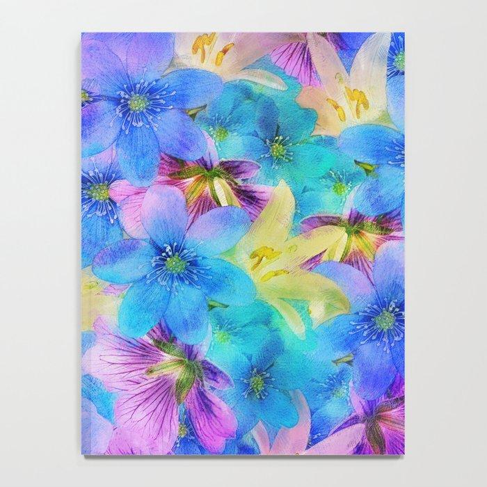 Vivid Floral Pattern Notebook