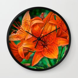 Orange Tiger Lilies - The Peace Collection Wall Clock