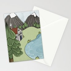 Cabin in the Mountains Stationery Cards