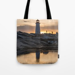 Peggys Point sunset walk Tote Bag