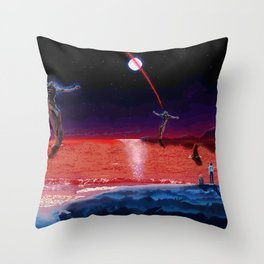 End of Pixelgelion Throw Pillow