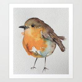 Robin Bobin Along Art Print