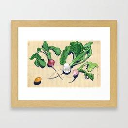 Easter Egg Radishes in Gouache Framed Art Print