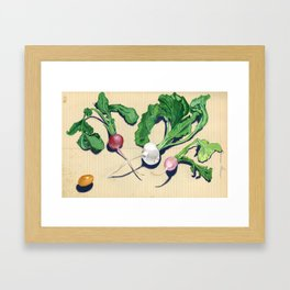 Easter Egg Radishes in Gouache Framed Art Print