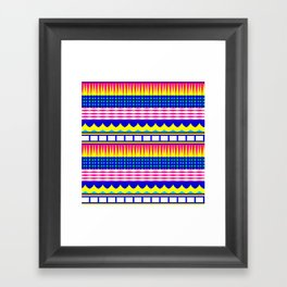 Rectangles waves and circles Framed Art Print
