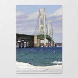 Bright Mackinac Bridge Canvas Print