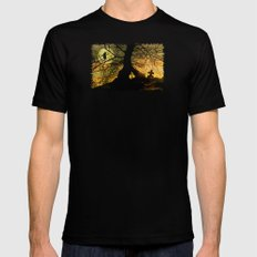 A mysterious place Mens Fitted Tee Black MEDIUM