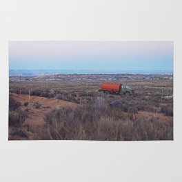 Pastel Sunsets in the Desert, Plus Truck Rug