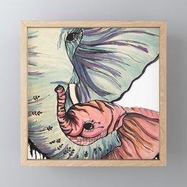 Compassionate Elephant Framed Mini Art Print