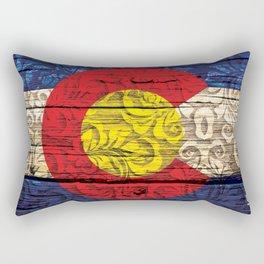 Colorado Flag Royal Stain Rectangular Pillow