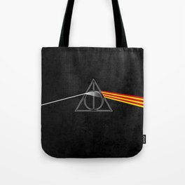 the darkside of the deathly hallows Tote Bag