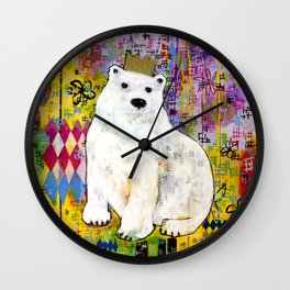 Bear Who Wears the Crown Wall Clock