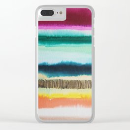 Color Me Hapy series Clear iPhone Case