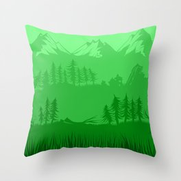 Shades of Nature - Green Throw Pillow