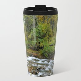 Autumn river at the mountains..... Travel Mug