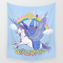 Pizza Wizard Wall Tapestry