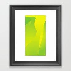 Green Tones of Luck Framed Art Print