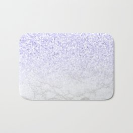 Violet Glitter and Marble Bath Mat