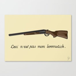 This is not my Boomstick Canvas Print