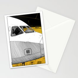 asc 698 - Le tarmac la nuit (Your flight was delayed due to technical problems) Stationery Cards
