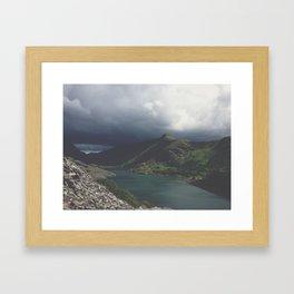 Storm coming. Framed Art Print